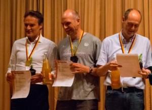 Deutscher Meister OSC Hamburg mit Michael Finkenstädt, Christian Stamer und Martin Nolte (von links nach rechts). (Foto: Jonathan Häußler)