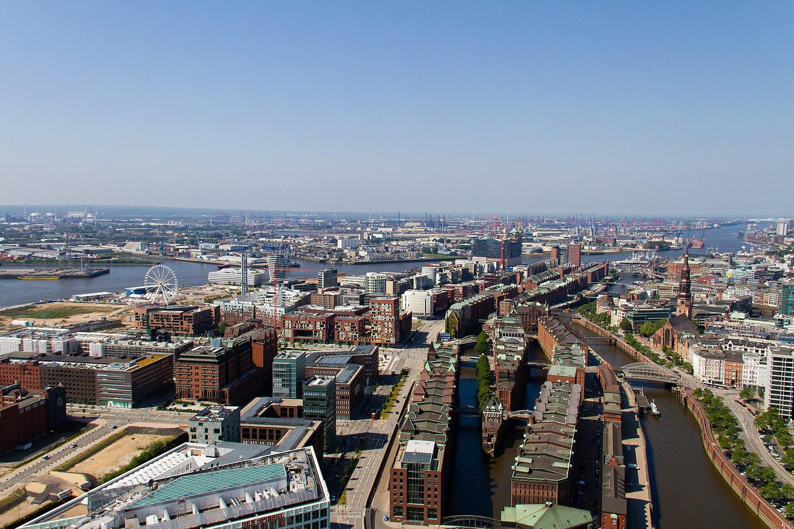 Luftbild der Hafencity