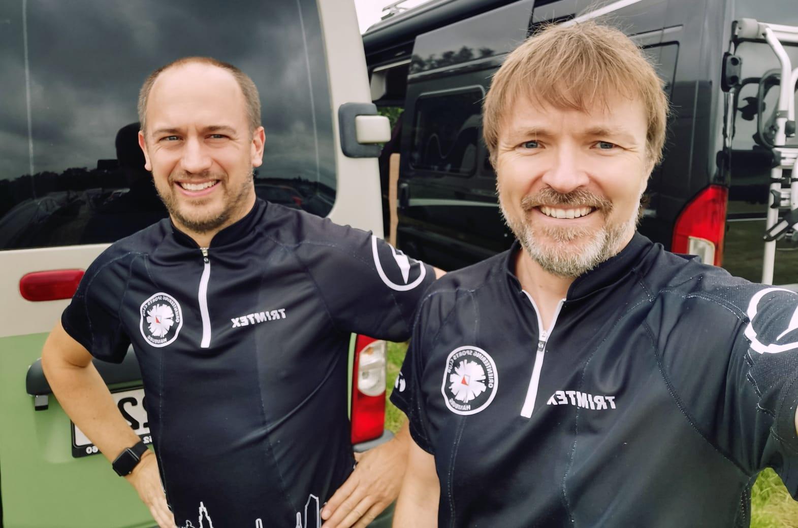 Tim und Carsten vor dem Start
